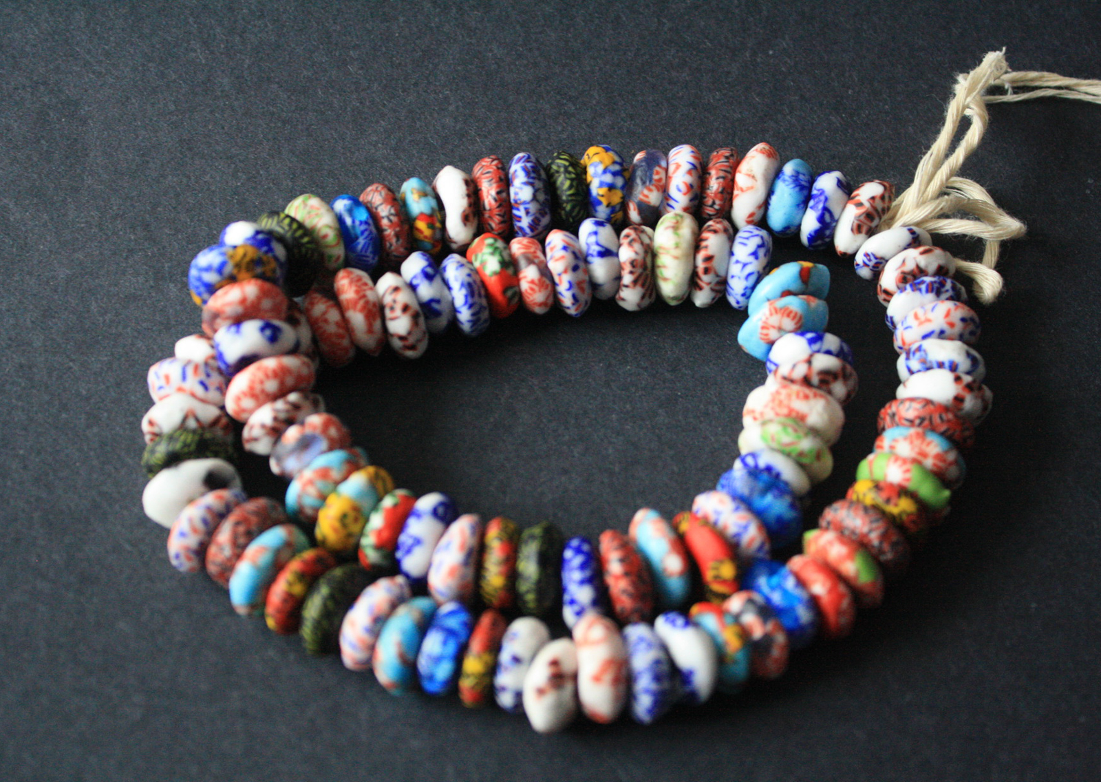 Afican-Disc-Beads-Ghana-Refashioned-Glass-Discs–13-to-15-mm-Multi-3-Summer-2020