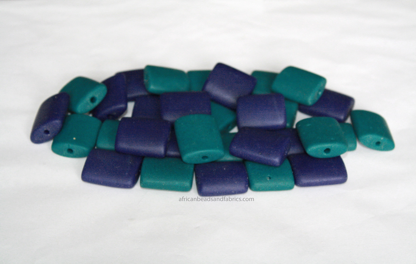 African-Beads-Ghana-Recylcled-Glass-Rectangle-teal-cobalt-blue-watermarked