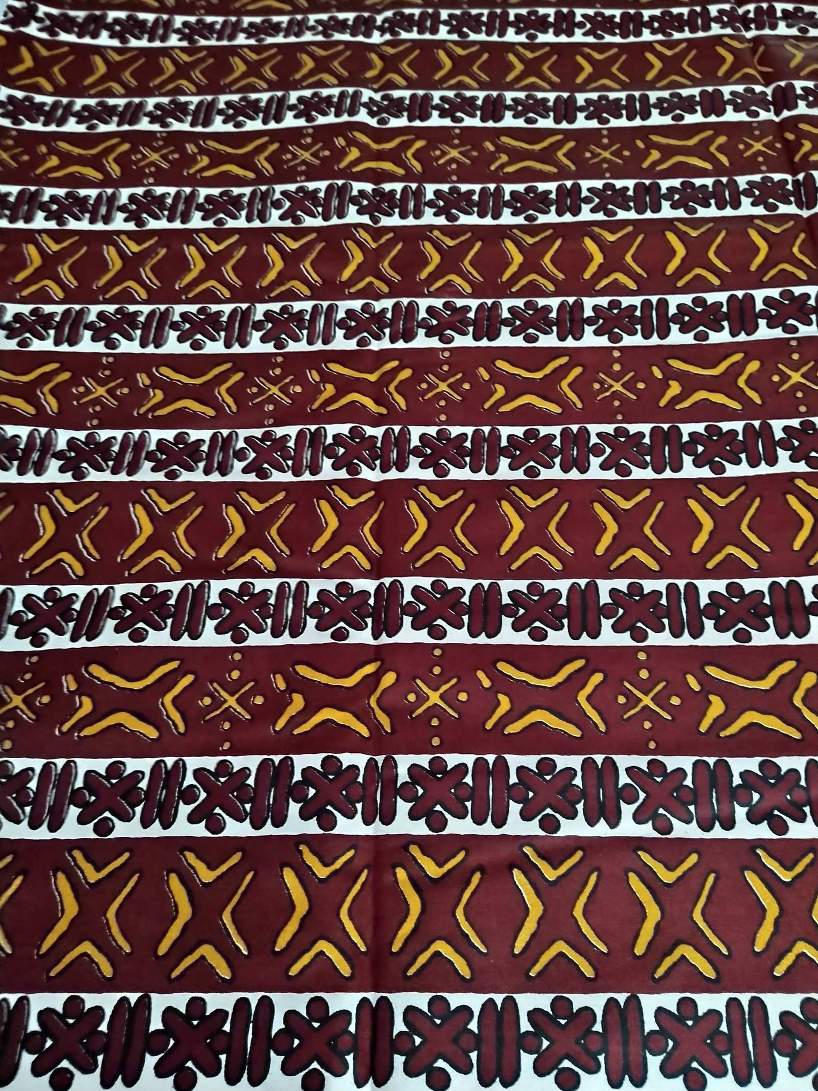 Striking-African-Fabric-Upholstery-Woodin-Bogolan-Maroon.full-view
