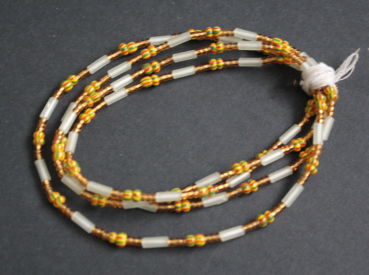 Waist-Beads-Czech-gold,-white-yellow-44-inches