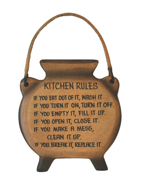 Wall Plaque Gift Kitchen African Pot Solid wood