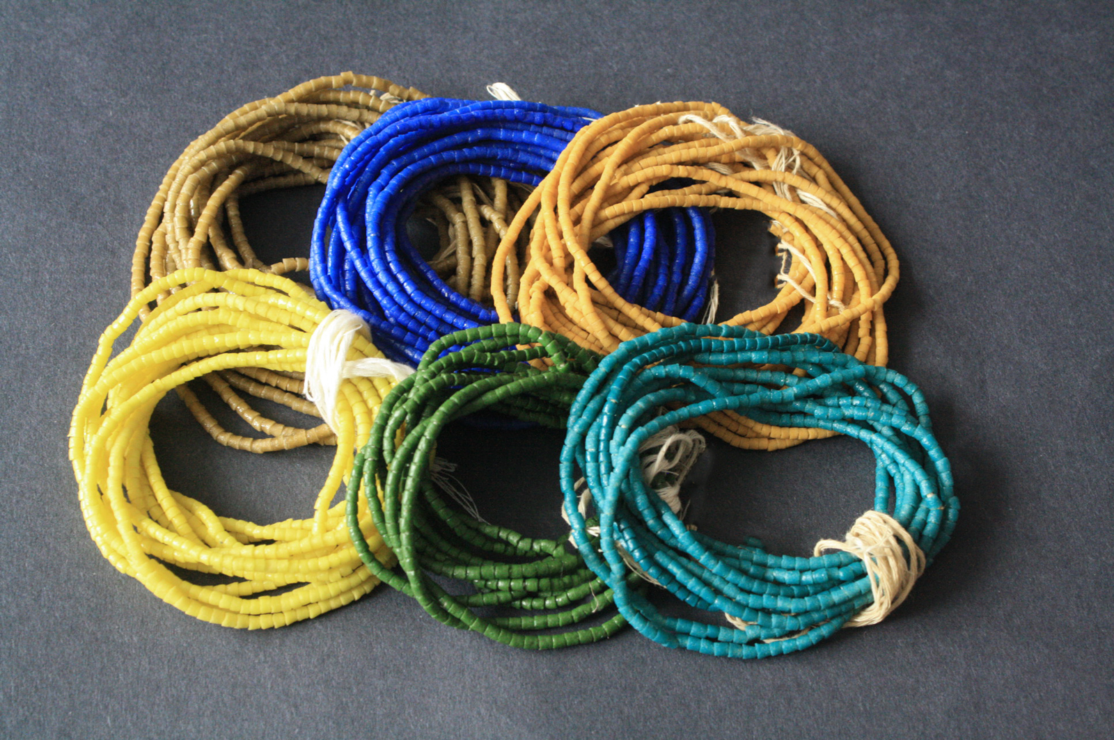 African-Waist-Beads-Seed-Beads-blue-mustard-green-golden-brown