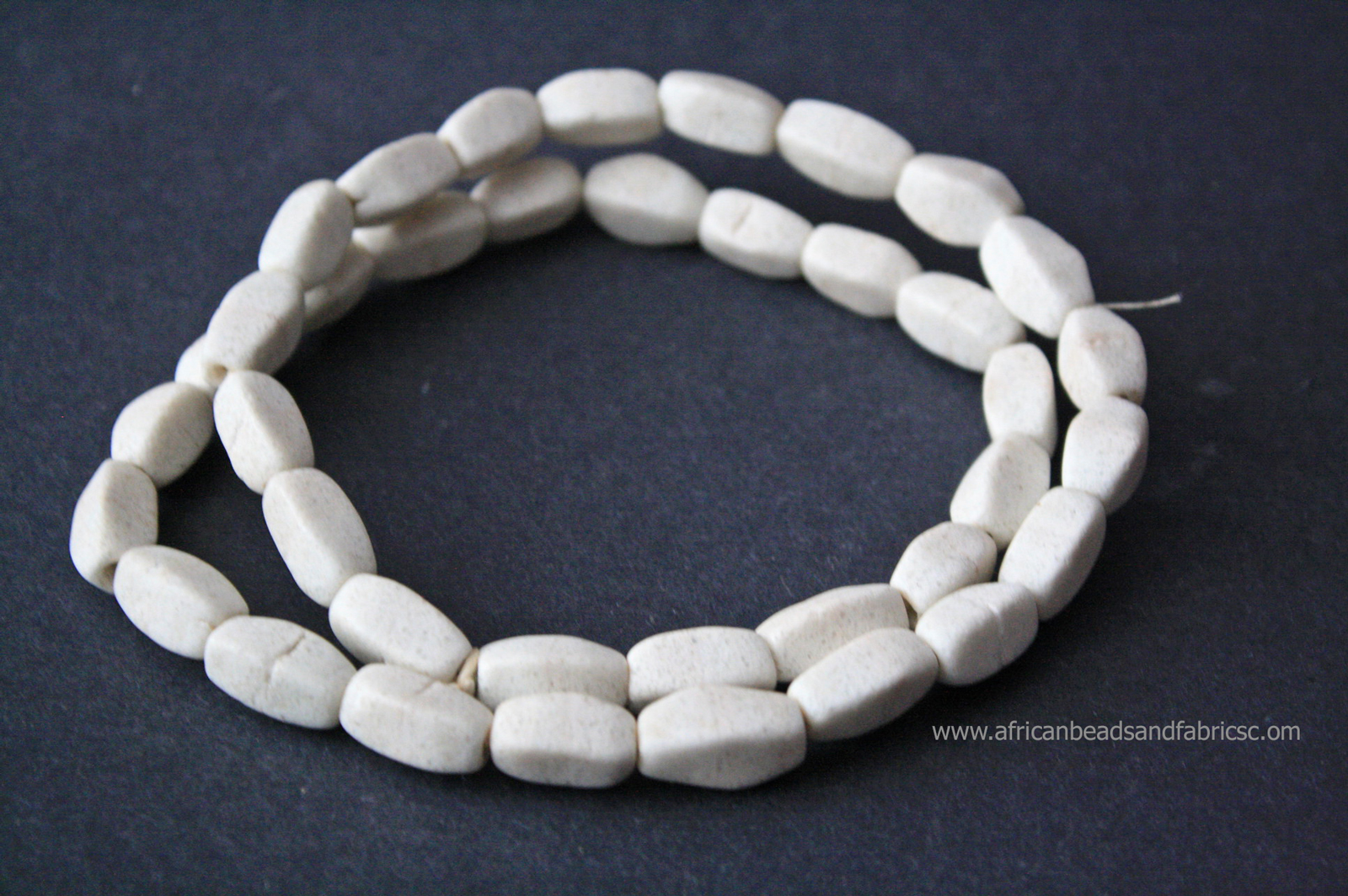 African-Beads-Ghana-Krobo-Recyled-glass-multifaceted-white-watermarked