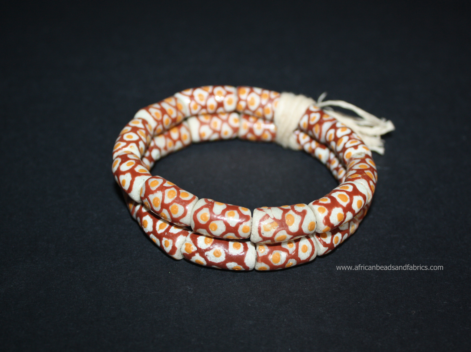 African-beads-Ghana-Krobo-recycled-glass-tubes-20mm-off-white-red-watermarked