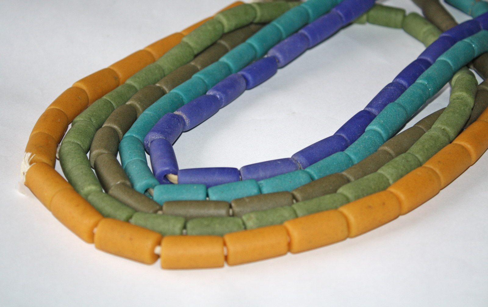 African-Beads-Ghana-Krobo-Recycled-Glass-Cylinder-Tubes-24mm-all-colours