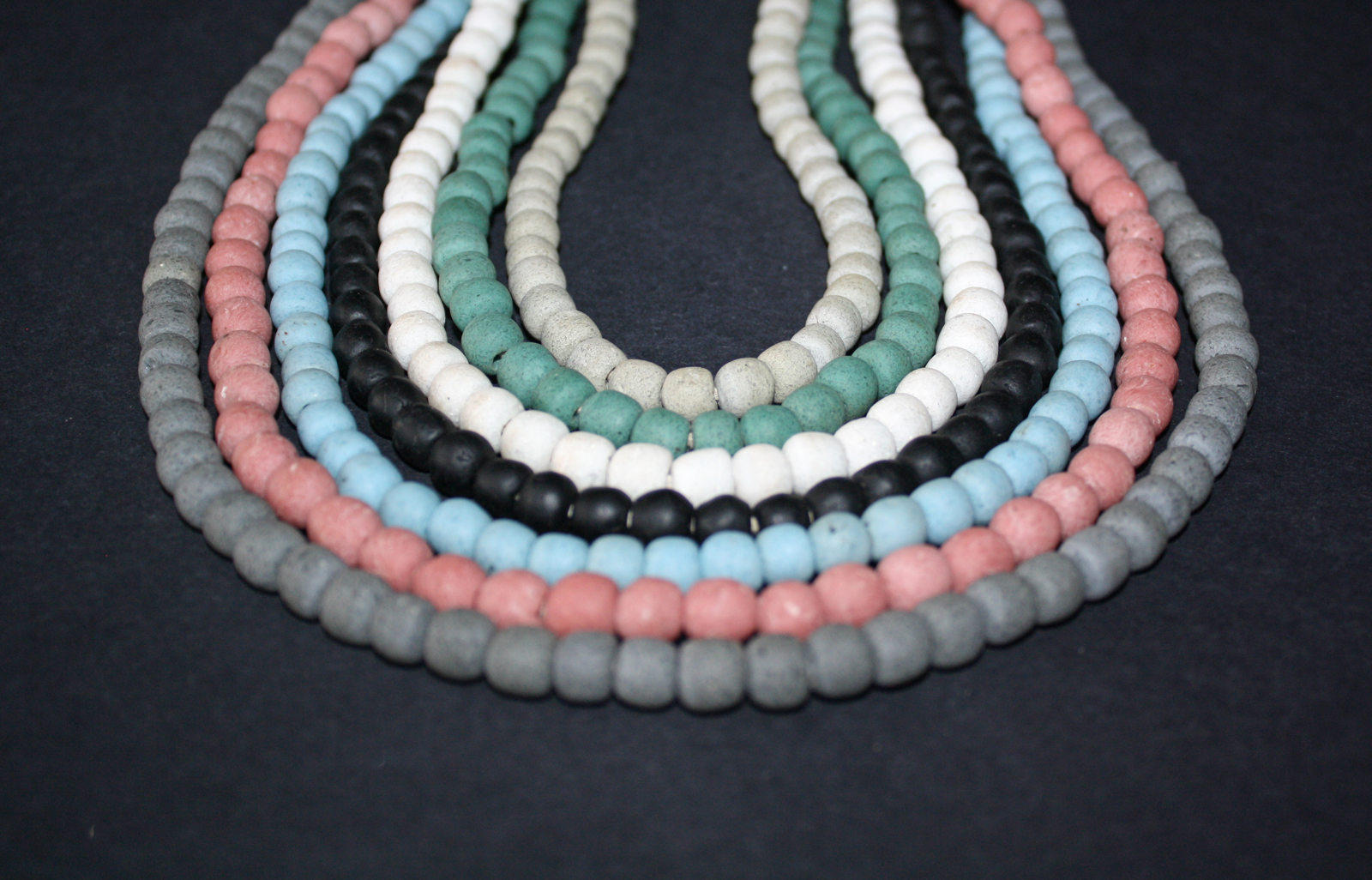 African-Beads-Ghana-Krobo-Recycled-Glass-Round-Opaque-8-9mm-all-colours