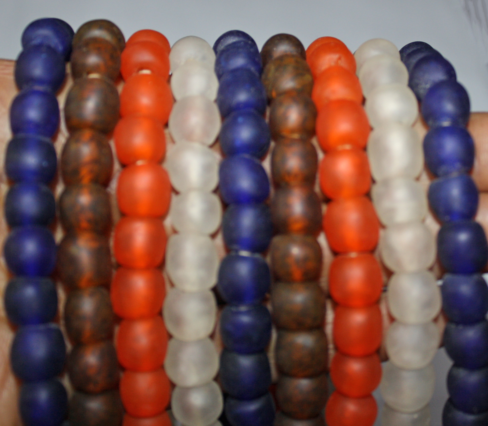 African-beads-ghana-Krrobo-glass-beads-10mm-all-colours