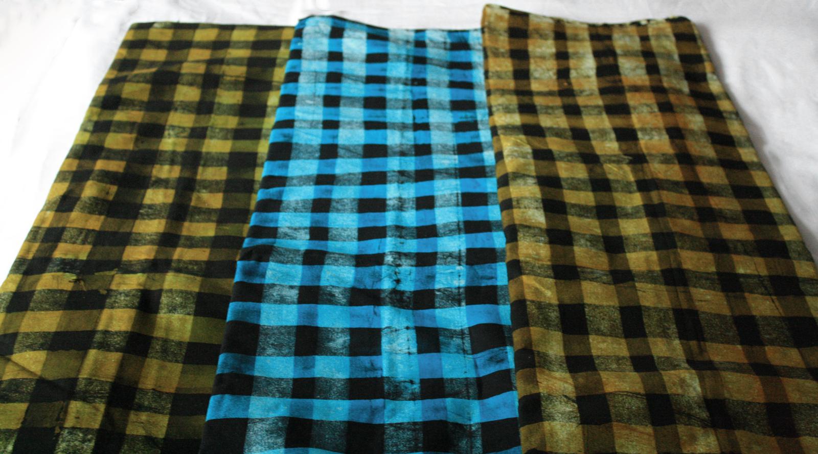 African-Batik-Fabric-Ghana-Cotton-cloth-abstract-check