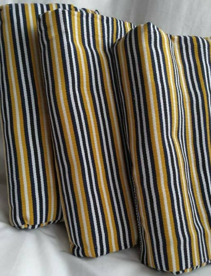 Kente Fabric Ghana Handwoven Ethnic Stripey Cotton 2