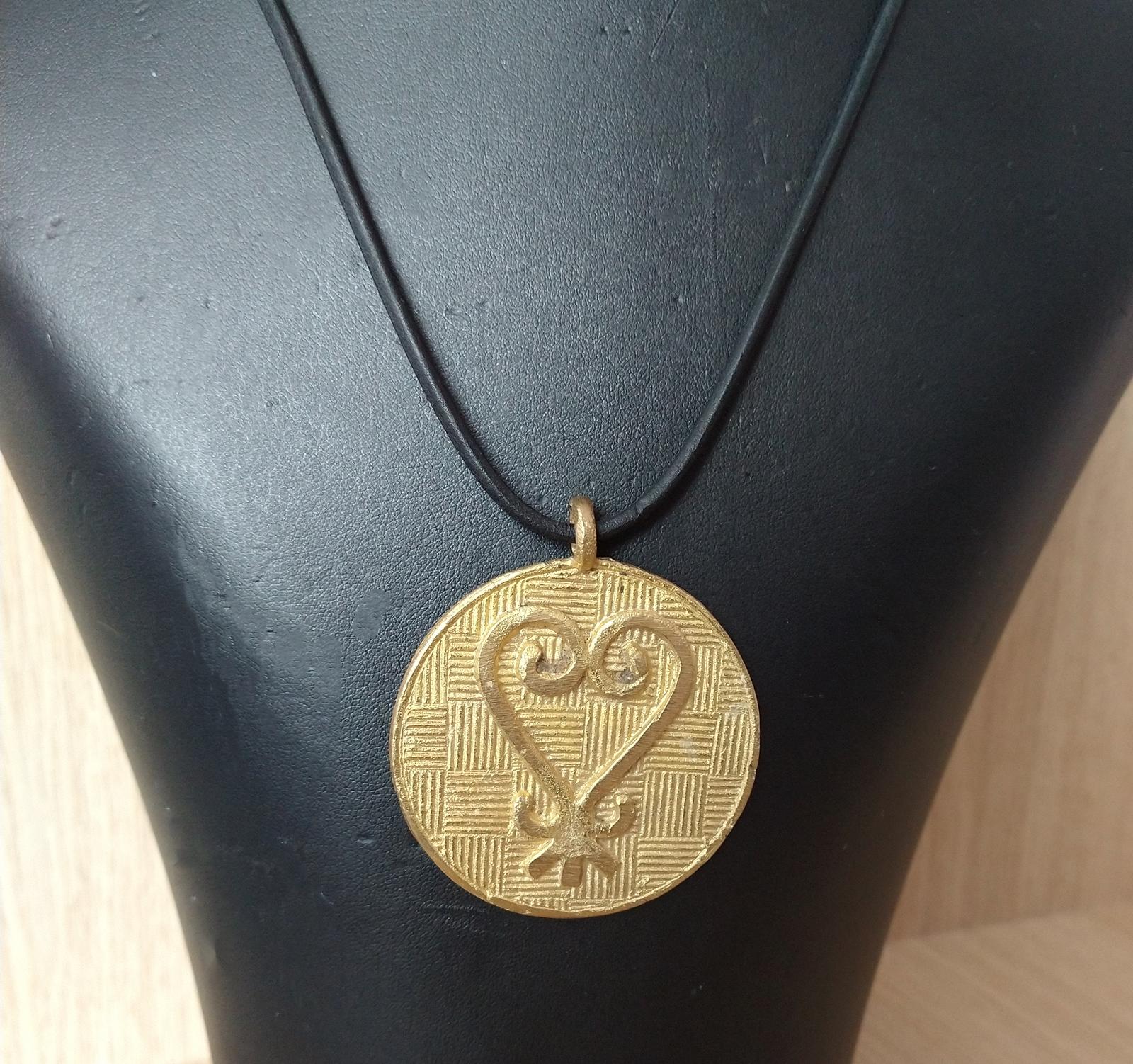 African–adinkra-pendant-necklace-sankofa-on-leather-2