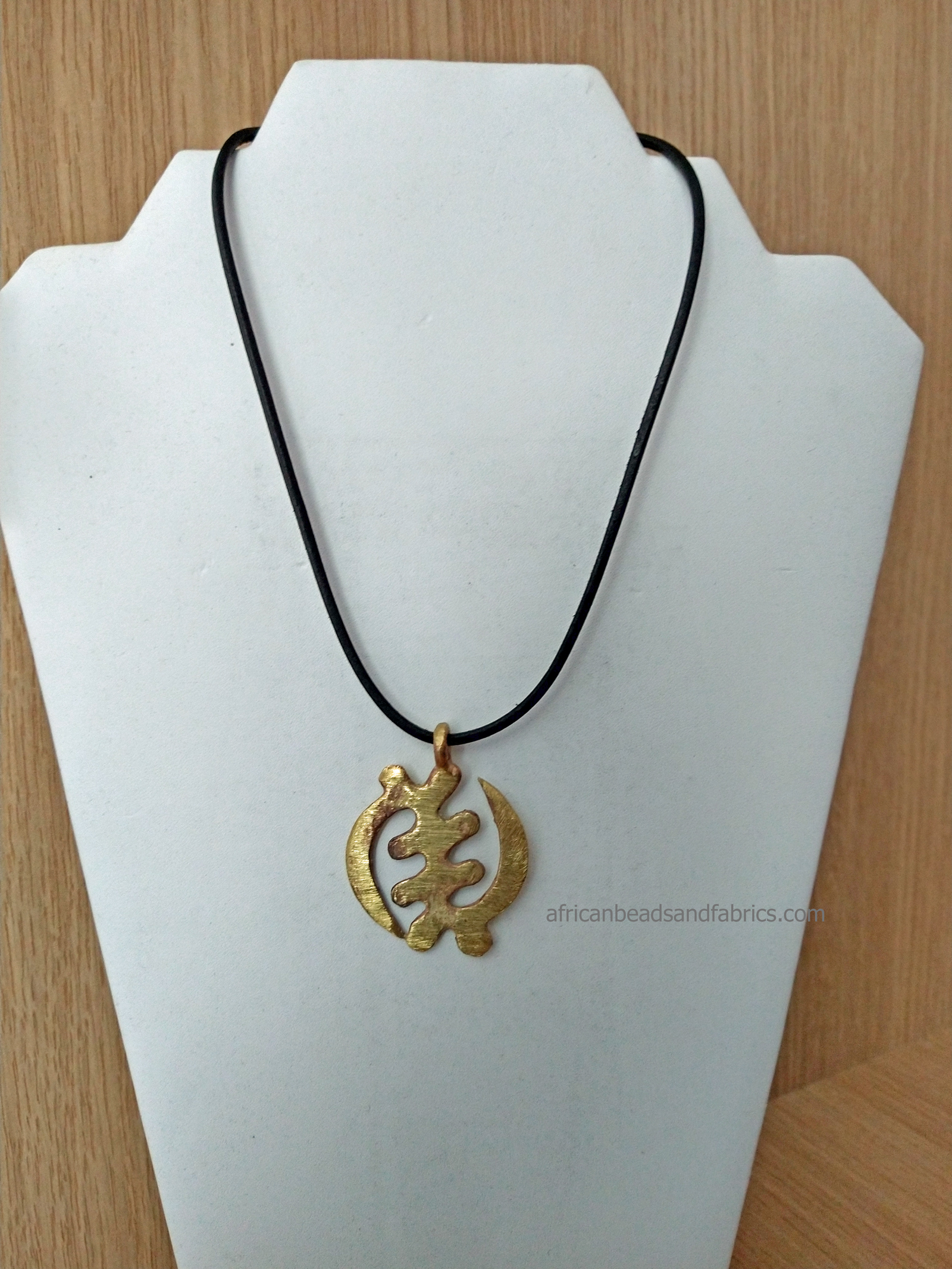 African-Jewellery-Adinkra-Gye-Nyame-Pendant-on-buffalo-leather-cord-watermarked
