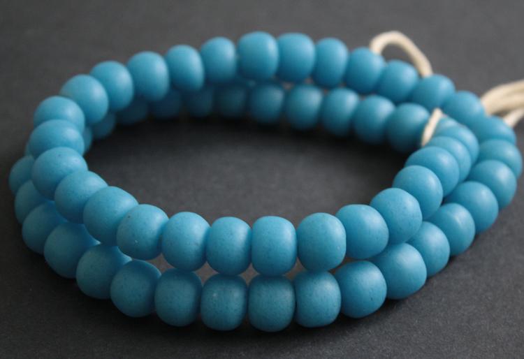 Blue-African-Beads-Ghana-Krobo-Recycled-Glass-Beads-Opaque-12—13-mm