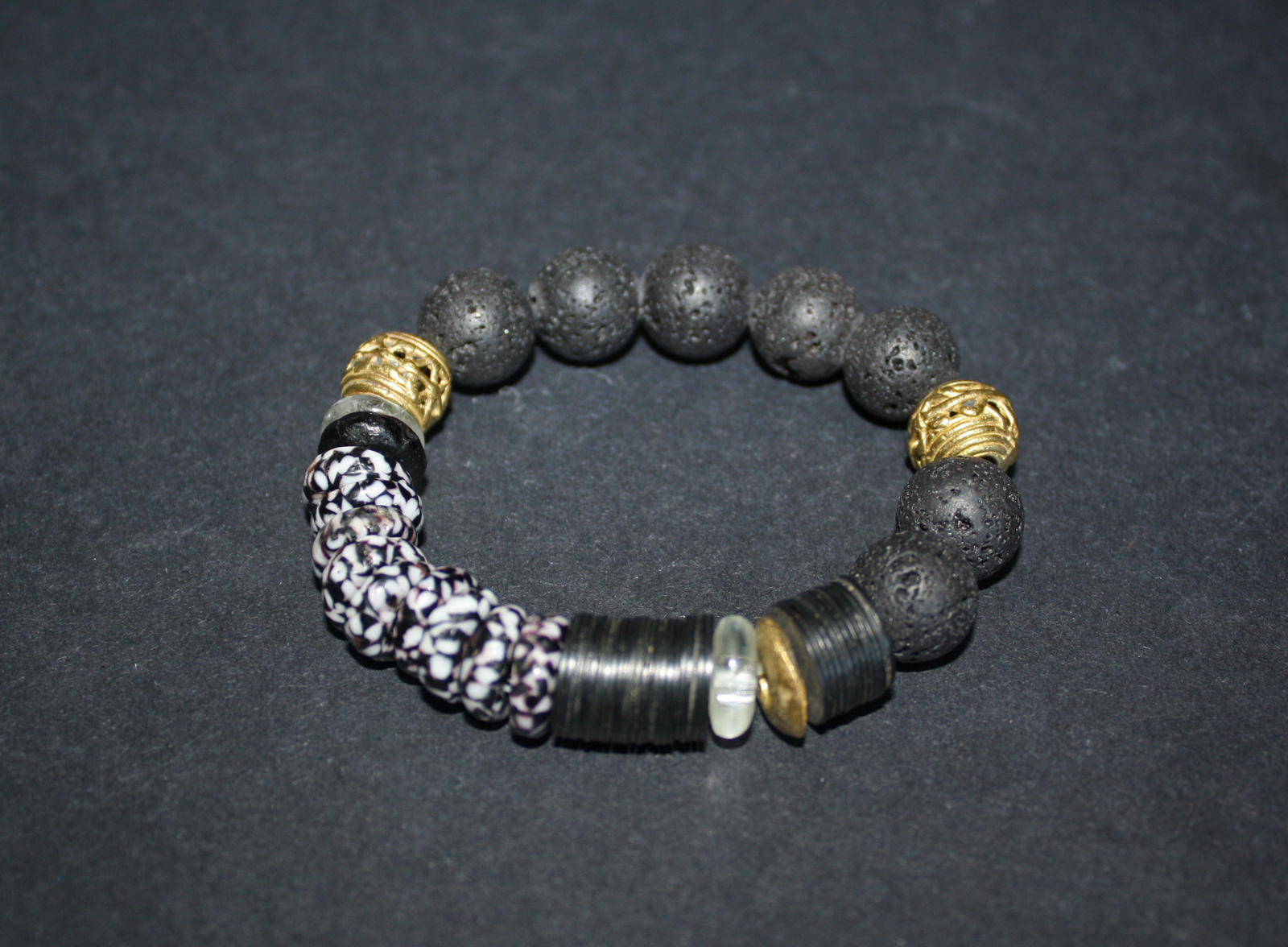 African-Bracelet-Black-Lava-Recycled-Glass-and-Brass-Beads