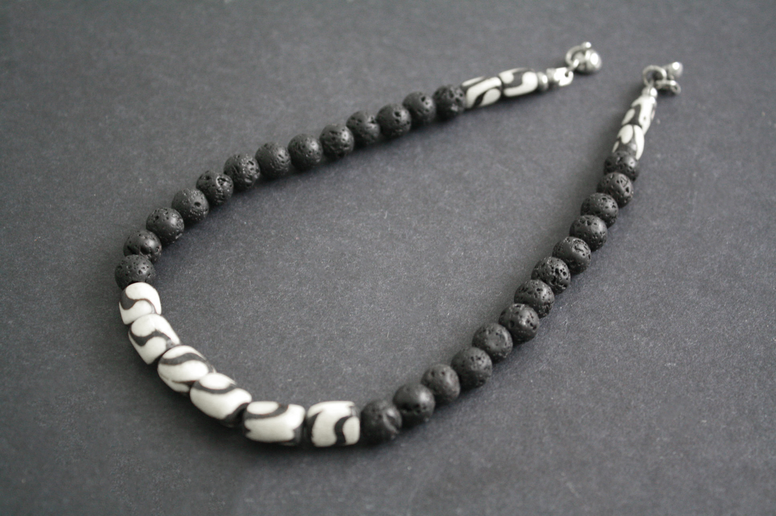 Kenyan-Bone-and-Lava-Beads-Necklace-with-magnetic-clasp