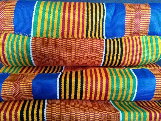 Kente Fabric Blue and Multi 2